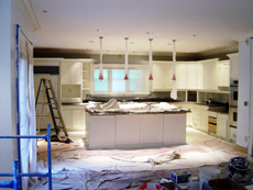Kitchen Cabinets before painting